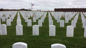 Existing graves at Miramar National Cemetery