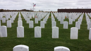 Some of the graves at Miramar National Cemetery