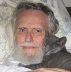 Kenneth Eugene Parker and his little cat Lucky