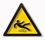 Symbol of someone falling