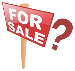 For Sale sign with a Question Mark